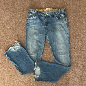 UNIQUE 1990's distressed LEI bootcut jeans.